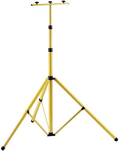 Brennenstuhl Stativ für Baustrahler Brobusta / Teleskop-Stativ für Fluter (inkl. Trägerteil für 2 Strahler, stufenlos höhenverstellbar von 115 bis zu 300cm)