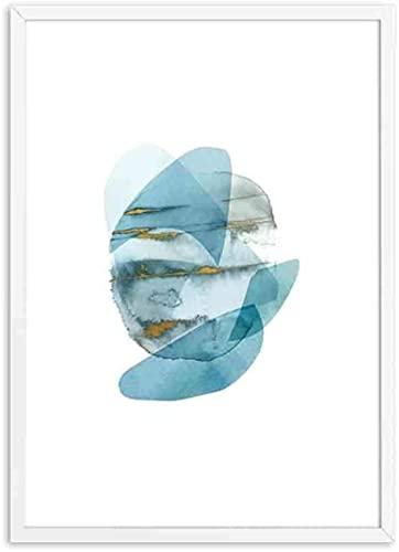 Accesorios 3 piezas 40x60 cm sin marco azul geométrico polígono cartel nórdico arte de pared impresiones pintura sala de estar decoración del hogar moderno