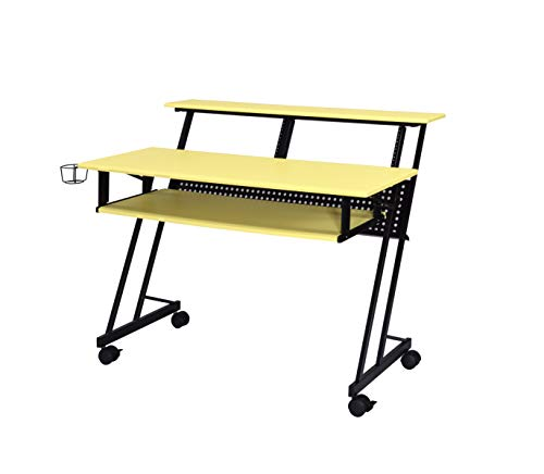 Acme Furniture Suitor Music Recording Studio Desk, Yellow & Black $152.72 + FSSS