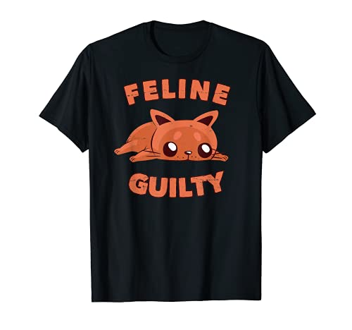 Funny Cat - Feline Guilty - Cat Feeling Guilty Kitten Lover Camiseta