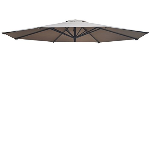 BenefitUSA Umbrella Cover Canopy 13ft 8 Rib Patio Replacement Top Outdoor-Taupe