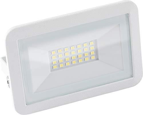 Meister LED-Außenstrahler - weiß - 20 Watt - 1600 Lumen - Stabiles Aluminiumgehäuse - Zur Festinstallation an Hauswänden - IP65 Strahlwasserschutz / Außenleuchte / Wandfluter / Flutlicht / 7490750