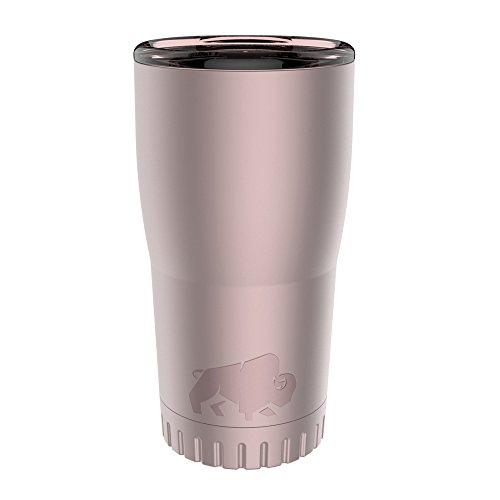 Silver Buffalo NL112295 Double Walled Stainless Steel Travel Tumbler, 20-Ounces, Matte Pink