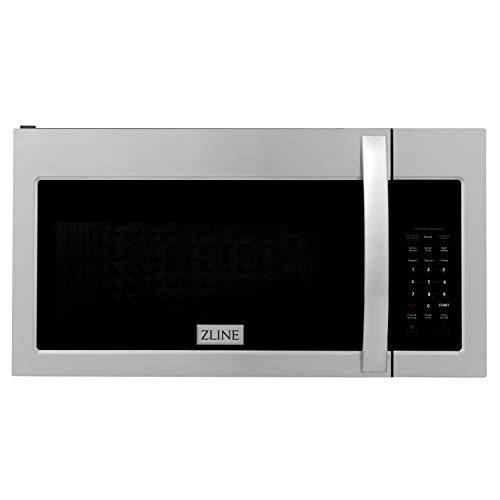 ZLINE Over the Range Convection Microwave Oven in Stainless Steel with Modern Handle and Sensor Cooking