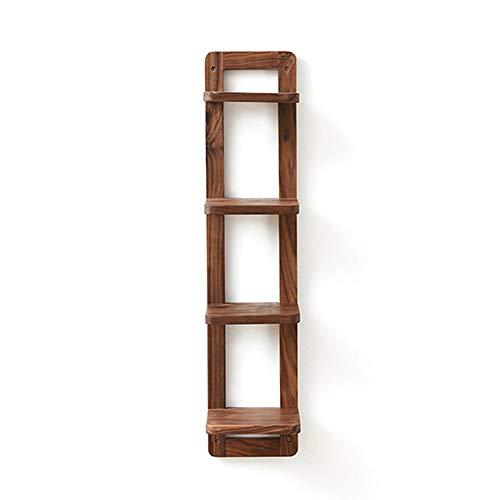 YLCJ boekenrek, drijvende wandplanken, houtdecoratie, hangplank, huishoudplank, 20 x 22 x  90 cm (kleur: bruin 20 x 22 x  90 cm)