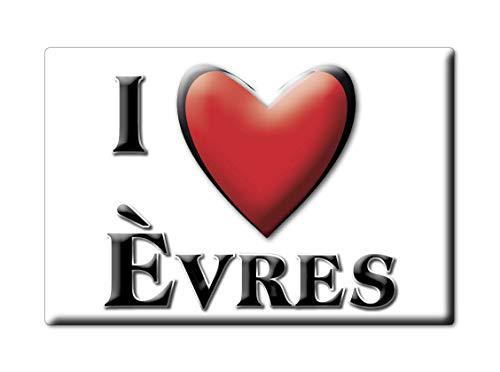 Enjoymagnets ÈVRES (55) Souvenir France Martinique Fridge Magnet KÜHLSCHRANK Magnet ICH Liebe I Love