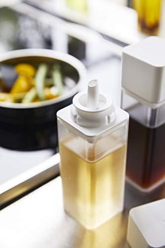 山崎実業(Yamazaki)詰め替え用調味料ボトルタワーホワイト約5.5X5.7X17.2cmタワー密閉簡単開閉分解して洗えて清潔250ml4842
