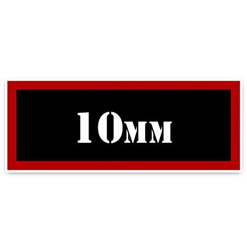 GKZMGR Autoaufkleber 16,5 cm * 6,2 cm Retro-Reflektierende 10 Mm Munition Auto Aufkleber PVC