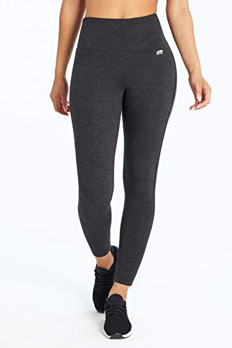 Marika Women's Camille Tummy Control Leggings, Heathered Charcoal, Large