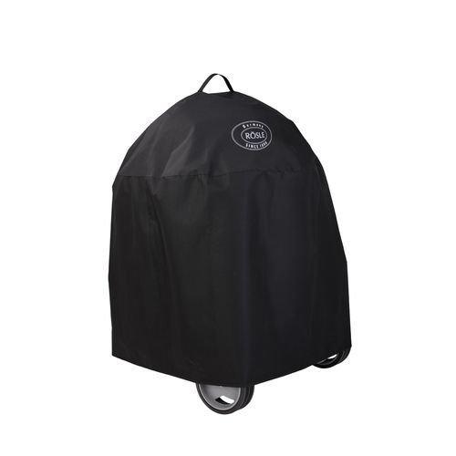 RÖSLE BBQ Abdeckhaube für No. 1 Belly F50 und Sport F50, PES Polyester, schwarz, wasserdicht, Klettverschluss