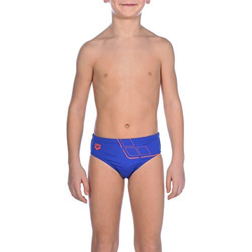 ARENA B Jr Brief Badehose für Jungen Essentials, Jungen M neonblau-Nektarine