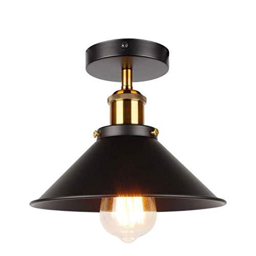 JJZXD Luz Colgante Lámpara Colgante Industrial de Granero de Metal con cúpula/Cuenco Lámpara Colgante náutica