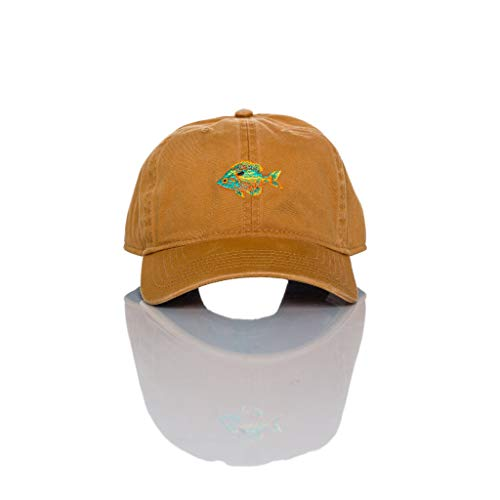 """Longear"" Classic Adjustable Fishing Hat for Men & Women, Outdoor Cap & Dad Hat Burnt Orange"