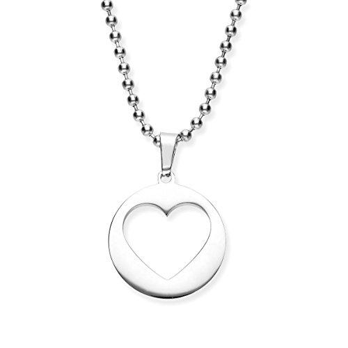 Urban eroi–Collana da Donna con Ciondolo a forma di cuore–collana cuore amuleto–Gioielli disponibile in vari colori–argento