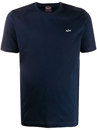 Paul & Shark Luxury Fashion Herren E20P1074013 Blau Baumwolle T-Shirt | Frühling Sommer 20