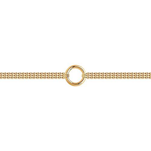 SOKOLOV Jewelry elegantes zartes Armband Damen Silber Sterling 925 vergoldet I Exklusiver Designer Markenschmuck Damen-Schmuck I Armreif Silber schlicht I silberne Armkette Damen (19)