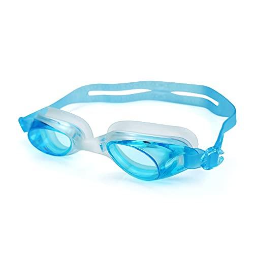 Lunettes de plongée Lunettes de natation lunettes d eau ajustable piscine de bain adulte enfants hommes femmes plongée maillot de bain lunettes lunettes bouchons d oreille Nager ( Color : Lake Blue )