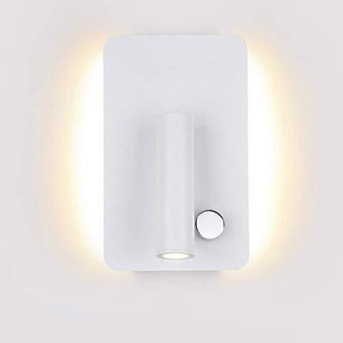 Wandstaal Creative Work Space wandlamp rechthoekig complexe procedure aparte schakelaar metalen draaiknop wandverlichting