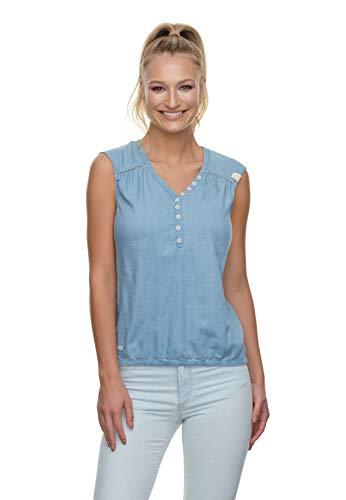 Ragwear Bluse Damen Salty Denim 2111-10032 Hellblau Light Blue 2042, Größe:S