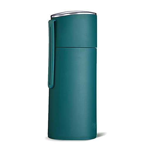 Beckye Hervidor eléctrico portátil de viaje, hervidor de agua con aislamiento al vacío de acero inoxidable, protección en seco con cierre automático, sin Bpa, 250 ml/blue