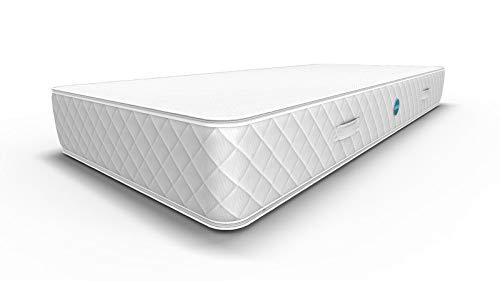 WELTBETT El colchón | 18 cm de alto, 80 x 190 cm, 2 en 1 – H3 & H4, colchón para cama con somier o somier, colchón de espuma híbrida, 111 noches de provisión