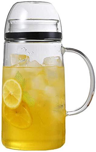 Tetera de cristal Tetera Taza 1,5 L / L de jugo flor Beber jugo transparente a prueba de agua Envases de Vidrio Hervidor tetera de café de cristal Hervidor de Big Outlet jarro de agua Calor Jarra (sol