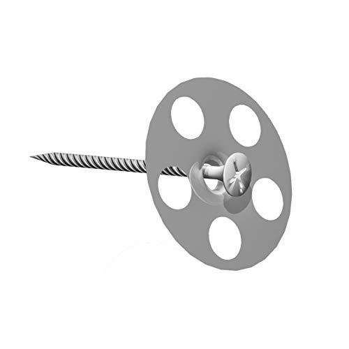 LUX ELEMENTS Schraube + Unterlegscheibe 35 mm Durchmesser, 50 Stück, FIX-SB 45S35 LFIXZ1112, Silber