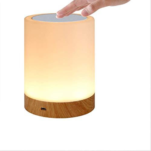 YOPOTIKA Portátil RGB LED noche luz táctil lámpara recargable batería mesa luz regulable lámparas para dormitorios sala de estar