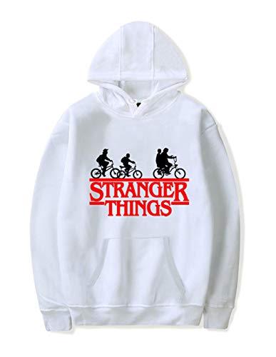 Pull Stranger Things Fille, Unisexe Sweat Stranger Things Femme Hombre Pullover Sport Alphabet Sweat-Shirt a Capuche Imprimé Sweat Shirt Hoodie Sweatshirt Fan de Stranger Things (3,XS)