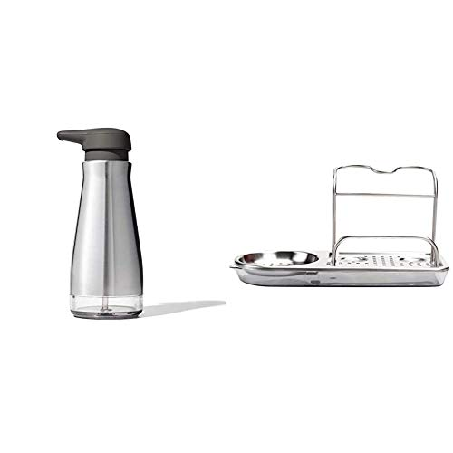 OXO Good Grips Stainless Steel Soap Dispenser & Stainless Steel Sink Caddy