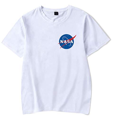 HAOSHENG Mujer Camisetas Impreso NASA...