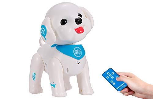 RC TECNIC Perro Robot para Niños Teddy | Perrito Juguete Ladra y Anda | Robot Teledirigido con Mando Radiocontrol