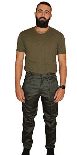 Petersabitidalavoro Pantaloni da Lavoro mimetici Multitasche da Caccia Pesca Funghi (Verde, 60)