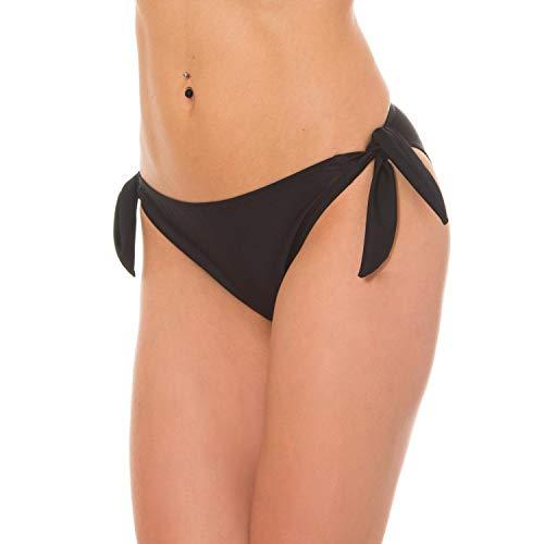 Aquarti Slip Bikini da Donna, Nero, 42