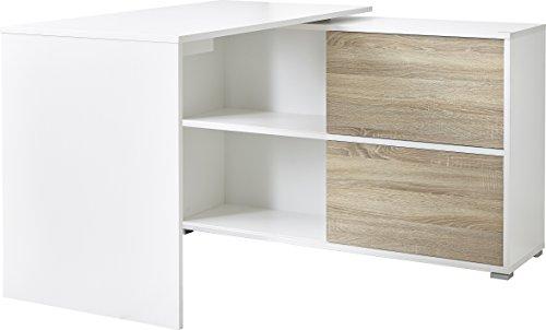 Germania Schreibtisch, weiß, 120x76x120 cm (BxHxT)