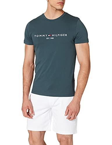 Tommy Hilfiger Tommy Logo Tee T-Shirt, Mystic Lake, S Uomo