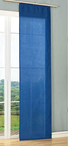 Schiebegardine Flächenvorhang Wildseide Optik Vorhang Gardine, 245x60 cm (Höhe x Breite), Bordeaux, 85620