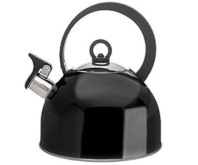 Studio Hot Water Tea Kettle, Stainless Steel Tea Pot with Whistle, Stovetop Teakettle - 2.5L, Black
