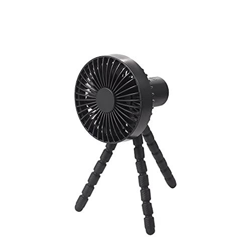 Tragbarer Ventilator, Disdarkday Mini Tischventilator Ultra Leiser Handventilator mit fexiblem Stativ, 1800 mAh Type-C Aufladbarem 3 Geschwindigkeiten Clip Ventilator für Kinderwagen Autositz Zelt usw