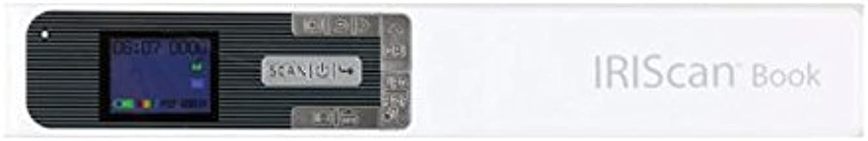 IRIS IRIScan Book 5 - Escáner portátil libros y revistas, batería, 1200 ppp, USB, Pantalla a color, JPG/PDF/PDF convierte texto a voz, Blanco