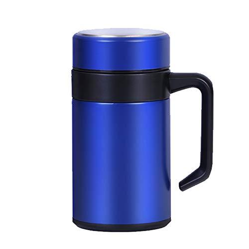 Hyutyr termo de acero inoxidable, termo de café de doble pared con aislamiento, botella de agua de acero inoxidable de 17 onzas, termo de doble pared, termo con aislamiento térmico azul