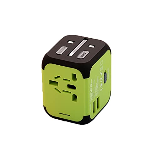 Adaptador Enchufe De Viaje Adaptador de viaje universal, enchufe de potencia multi-internacional con 6.1A 4 puertos USB Adaptador, convertidor para nosotros, Canadá, Reino Unido, Europa, Au, Asia Univ