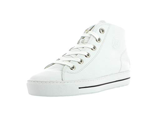 Paul Green Damen Sneaker 4735, Frauen High-Top Sneaker, Women's Woman Freizeit leger sportschuh Sneaker-Stiefelette mid-Cut Lady,White,40.5 EU / 7 UK
