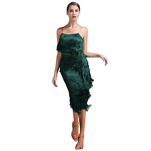 Dansjurk met franjes, eindejaarsjurk Tango Party Latin Dance Dress, Milk Silk Dress