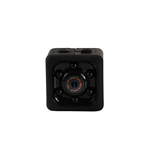 Camara Espia Oculta Video Cámara, Andoer 1080P HD Mini Camaras Espias, Mini Monitor de visión Nocturna Multifuncional, Camara Seguridad Pequeña Interior/Exterior(Negro)