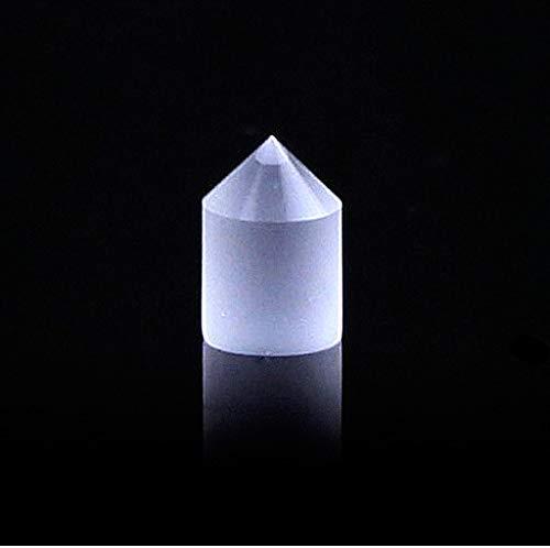 Toltec Lighting Optisches Instrument Prismenlinse 90 Grad konischer Linsendurchmesser 10 * 15MM, K9 Optische Glasdekoration Lehre Wissenschaft Experiment Prisma, Refraktor Kristallprisma