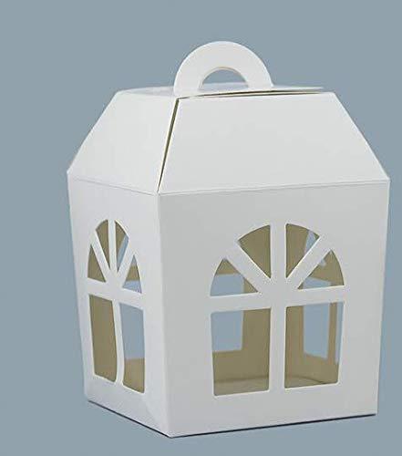 Pianeta Confetti Scatola Modello Lanterna per Bomboniera Portaconfetti, 10 x 10 x 13 cm, Confezione da 20 pezzi