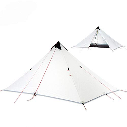 'N/A' Waterproof Ultralight Camping Tent 15D Silicone Coating Rodless Double Layers Tent Single 1 Person 3 Season