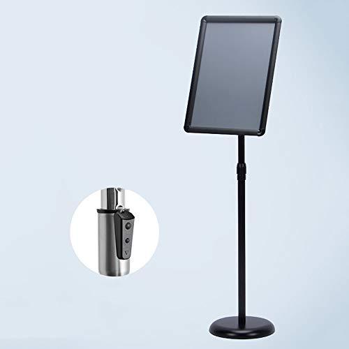 CHOU XIAO Schildhalter 11,6 X 16,5 Zoll Heavy Duty Pedestal Stand Hinweisschilder Perfekte Darstellung Ihrer Informationen (Color : Black, Size : Dark Buckle)