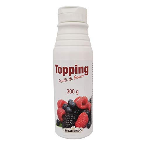 STRAMONDO Topping Frutti di Bosco 300 grammi, ideale la decorazione di dolci e gelati, Prodotto di alta qualità contenente frutta fresca concentrata, Made in Italy, Senza Glutine
